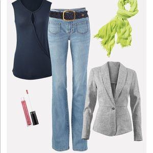Cabi Malibu Flare Jean #223 Size 12L NWT